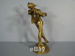 Sculpture Ancienne En Bronze Signée De Wever / Bronze Mephisto Signé De Wever