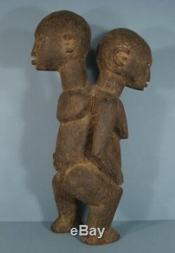Sculpture Ancienne Statue Femme Homme Janus Afrique Burkina Faso Ethnie Lobi