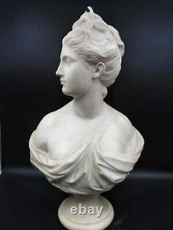 Sculpture ancienne Diane chasseresse buste portrait Jean Antoine Houdon