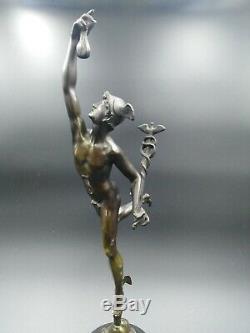 Sculpture ancienne bronze Mercure Hermès Jean de Bologne dieu Mythologie