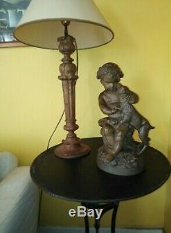 Sculpture ancienne terre cuite amour Bacchus mythologie antiquité Clodion