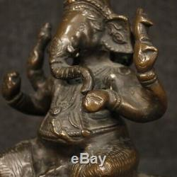 Sculpture indienne statue bronze divinité meuble objet style ancien salon 900