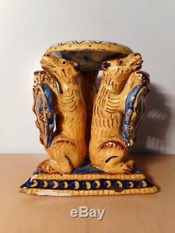 Sculpture statue ancienne saleron faience italienne Italie 18 19 siècle