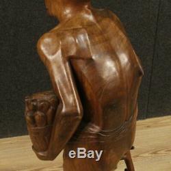Sculpture statue indiana objet en bois vieux personnage style ancien 900