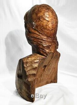 Splendide sirène bois sculpture ancienne figure de proue 8kg wood mermaid boat