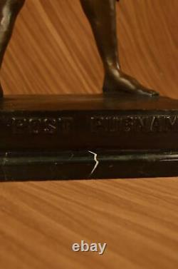 Statue Ancienne E. Picault Guerrier Envoie Pugnam H89 CM Bronze Sculpture