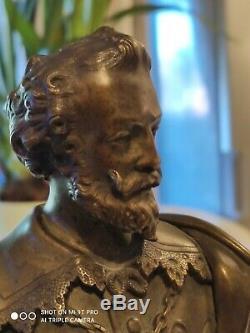 Statue Bronze Sculpture Henri IV Ancienne