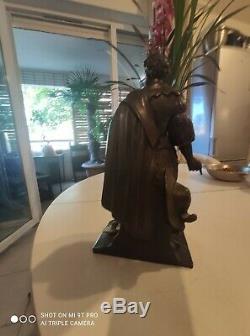 Statue Bronze Sculpture Henri IV Ancienne 33 cm