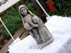 Statue Sainte ste Anne vierge sculpture Pierre Blanche ancien Quimper Bretagne