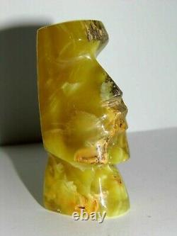 Statue Sculpture Inca Mexicaine Ancienne Pierre Onyx Nuancée Rare Très Bon Etat