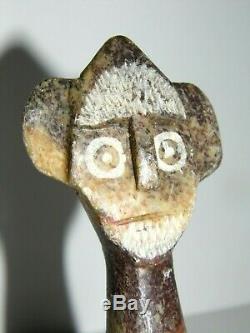Statue Sculpture Maya Précolombienne Ancienne Et Rare En Marbre Splendide