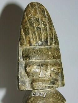 Statue Sculpture Maya Précolombienne Très Ancienne Et Rare En Pierre Splendide