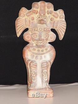 Statue Sculpture Maya Précolombienne Très Ancienne Et Rare En Terre Cuite Tbe