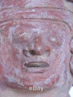 Statue Sculpture Précolombienne Très Ancienne Et Rare En Terre Cuite Vera Cruz