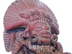 Statue Sculpture Précolombienne Très Ancienne Rare En Terre Cuite Dieu Du Maïs