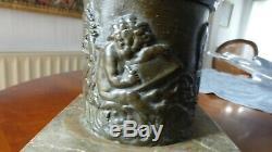 Statue Sculpture bronze Mercure volant. 80 cm. Fonte ancienne. XIXème. 31 inches