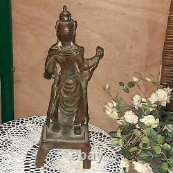 Statue ancienne BOUDDHA MING BUDDAH en bronze