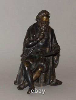 Statue ancienne en bronze homme style Henri IV bulletin des lois sculpture