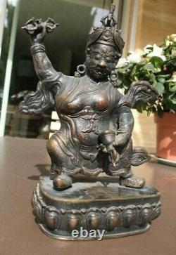 Statue asiatique ancienne en bronze TIBET VAJRAPANI XIXe
