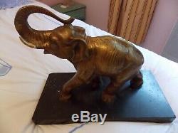 Statue bronze ancien éléphant trompe 9,5 Kilos