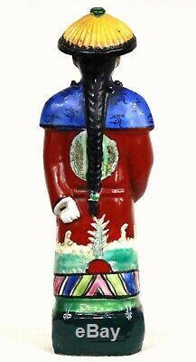 Statue porcelaine chinoise ancienne Mandarin Magot Année 1900