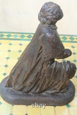 Statue religieuse ancienne/ Saint en bois haute époque 17ème 16 ème