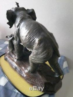 Statue sculpture animalière ancienne P. Balestra céramique (terre cuite)