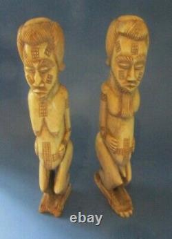 Statues Afrique en os ancienne Art ethnique africain african sculpture bone