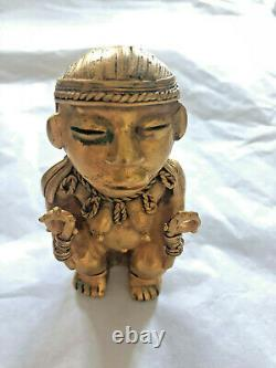 Statuette ancienne Divinité or TUMBAGA Kimbaya ou Tairona