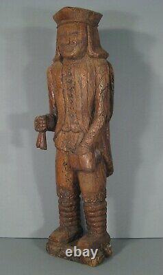 Suisse  Homme Habit Costume Traditionnel Ancienne Sculpture Bois Chêne