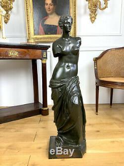 Venus De Milo Bronze A Patine Verte De 97cm De Haut Epreuve Ancienne A Clavettes